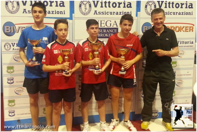 Il podio del campionato regionale 2015 categoria Allievi